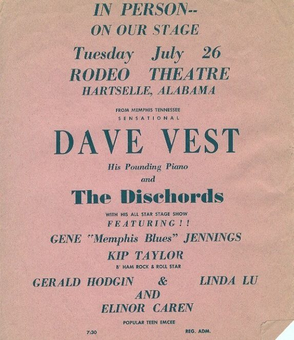 A flyer from 1960